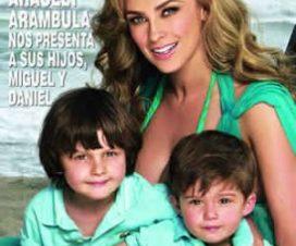 Foto Aracely Arámbula posa con sus Hijos sin Luis Miguel