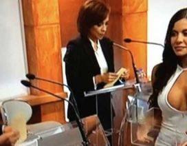 Video Foto La Bella Edecán del IFE en el Debate México 2012