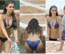 Foto Kim Kardashian Vuelve a Impresionar con su Escultural Cuerpo
