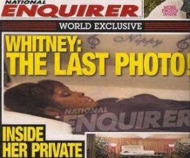 Publican Última Foto de Whitney Houston en Periódico Estadounidense